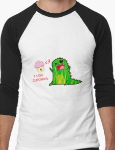 i liek cupcaeks Men's Baseball ¾ T-Shirt