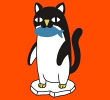 Penguin Cat Kids Tee
