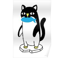 Penguin Cat Poster