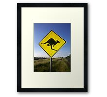 Beware of the Roo. Framed Print
