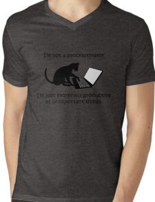 I'm Not a Procrastinator - Cat Mens V-Neck T-Shirt