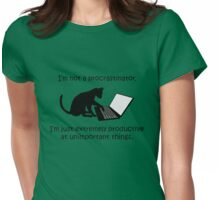 I'm Not a Procrastinator - Cat Womens Fitted T-Shirt