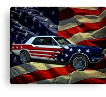 Captain America 1964 Mustang Canvas Print