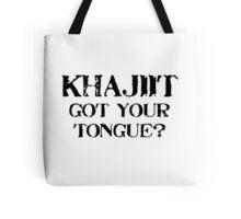 Khajiit 2 Black for low necked Tote Bag