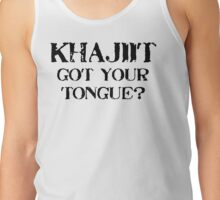 Khajiit 2 Black for low necked Tank Top