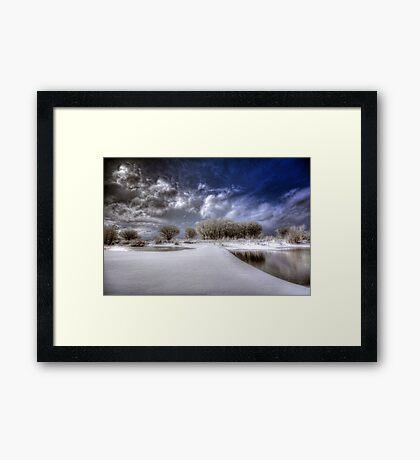 Snow Bridge Framed Print
