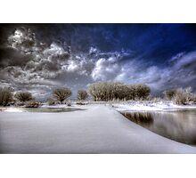 Snow Bridge Photographic Print