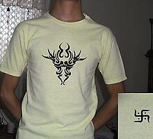Tribal lion t-shirt by Leoncio