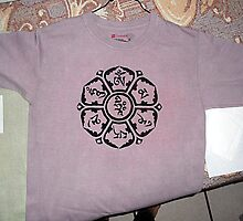 Om Mani Padme Hum t-shirt by Leoncio