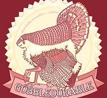 Gobbledorable - Pink Fairy Armadillo x Turkey by Halfsies
