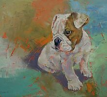 Bulldog Puppy by Michael Creese