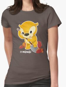 Wombi Wombat Digger Womens Fitted T-Shirt