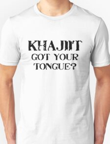 Khajiit 2 Black for high necked T-Shirt