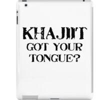 Khajiit 2 Black for high necked iPad Case/Skin