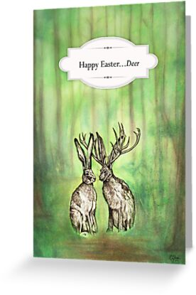 Happy Easter...Deer  by Carrie Jackson