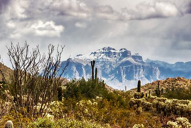 Snow Atop The Superstitions by Saija  Lehtonen
