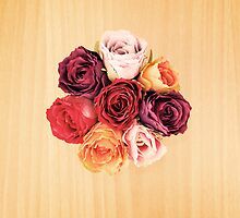 Top view of artificial bouquet by eliaskordelakos