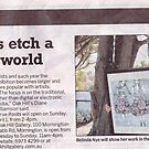 "Printmaking Show Newspaper article by Belinda ""BillyLee"" NYE (Printmaker)"