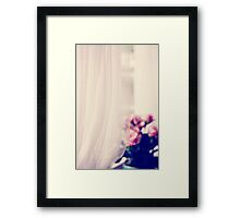 By The Window... Framed Print