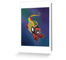 Nyan Deadpool Taco Cat Greeting Card