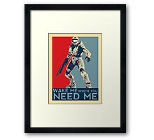 Halo 3 - Wake Me When You Need Me Framed Print