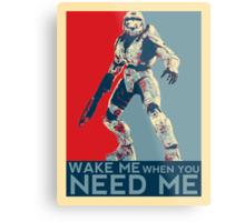 Halo 3 - Wake Me When You Need Me Metal Print