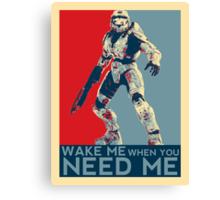 Halo 3 - Wake Me When You Need Me Canvas Print