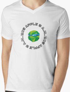Big Apple 3AM Leo-Cubism Mens V-Neck T-Shirt