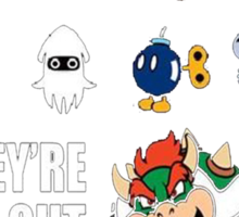 """They're All Out To Get You!"" Mario Characters Design Sticker"