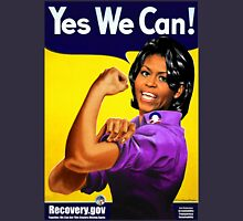 Recovery.gov Michelle Obama as Rosie The Riveter Womens Fitted T-Shirt