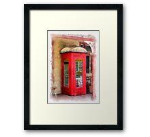 Ye Olde Phone Box Framed Print