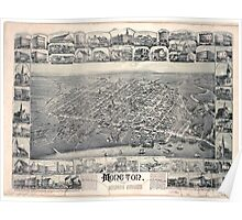 Panoramic Maps Moncton New Brunswick 1888 Poster