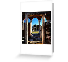 Framed Doorways Greeting Card