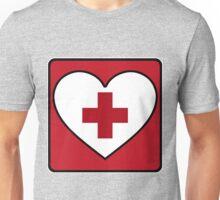 Get Well Soon, Red Cross, First Aid, Sexy Nurse, Heart,  Unisex T-Shirt