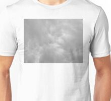 Beautiful clouds in black and white Unisex T-Shirt