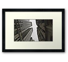 In-between skyscrapers Framed Print