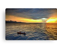 Sunset.Lake Tanganyika Canvas Print