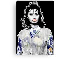"Title: ""Sexiness Comes From Within"", Boy on a Dolphin, Sophia Loren, Inspired Earth Girl, Woman Canvas Print"