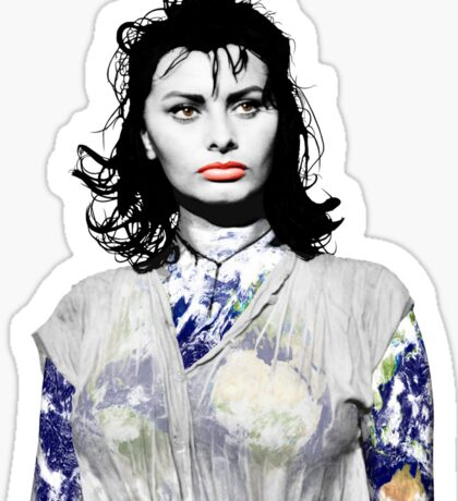 """Title: """"Sexiness Comes From Within"""", Boy on a Dolphin, Sophia Loren, Inspired Earth Girl, Woman Sticker"""