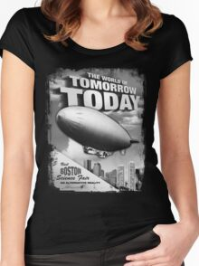 The World of Tomorrow. Today. Women's Fitted Scoop T-Shirt