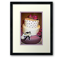 Kiss the bride... Framed Print