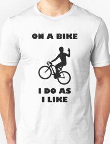 On A Bike Waving T-Shirt