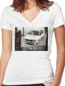 Craig Helmer's HDT VC Commodore Women's Fitted V-Neck T-Shirt