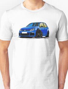 VW Golf R (5dr) Blue (Black Wheels) Unisex T-Shirt