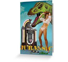 Jurassic Vibes Greeting Card