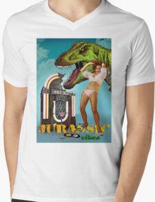 Jurassic Vibes Mens V-Neck T-Shirt
