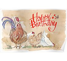 Happy birthday to a Chook-lover! Poster