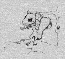 Zombie Squirrel Outline by Greg Brooks