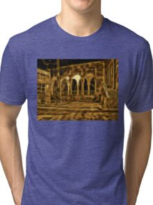 Beautiful courtyard with arches Tri-blend T-Shirt