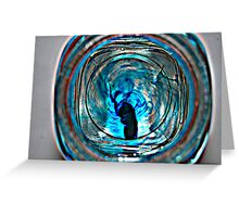 ink in glass Greeting Card